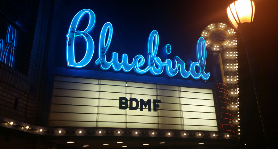 The Bluebird Theater. Courtesy of the Bluebird Theater Facebook page.