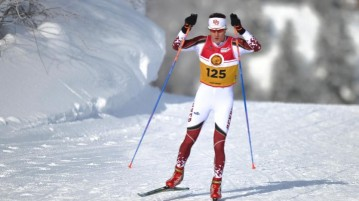 DU's ski team has earned 22 NCAA team titles and various other awards, but is rarely recognized by the university.  Photo courtesy of the University of Denver Ski Team.