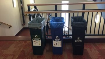 Recycling around DU is important for keeping our campus for environmentally friendly.  Photo by Connor W Davis | Clarion