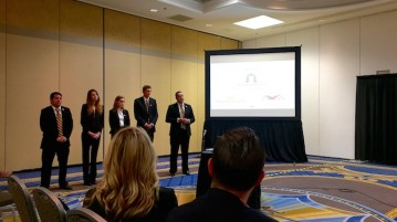 DU's team competes for first place in the 2016 NAHB Residential Construction Management Competition. Photo courtesy of Sarah Schulz