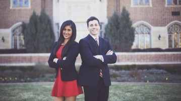 Both Aish Narang and Danny Kay are running for Undergraduate Student Government president and vice president.  Photo courtesy of Asih Narang and Danny Kay.