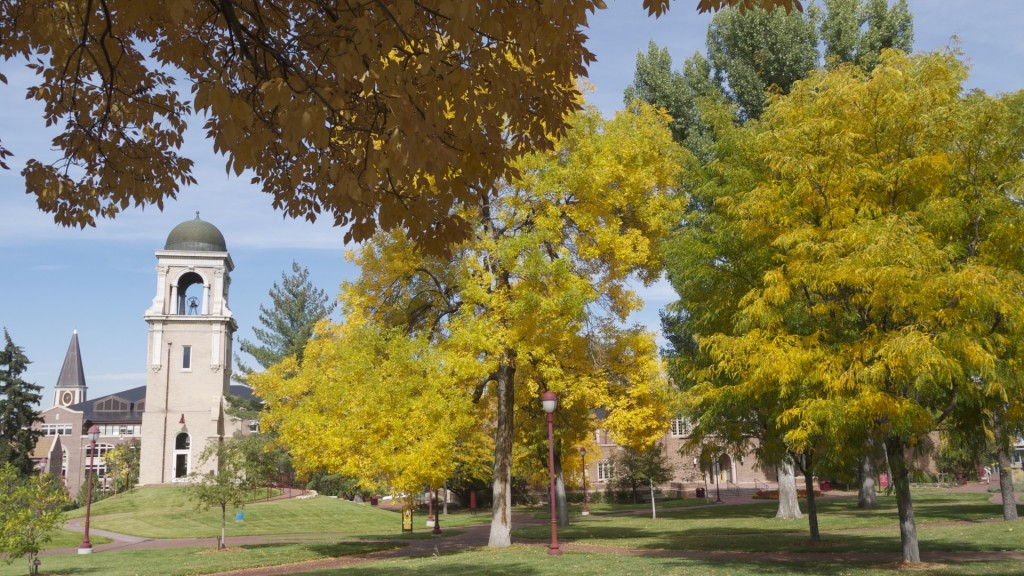 The DU campus during the fall quarter in 2014. Photo: Connor W. Davis
