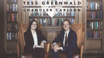 Tess Greenwald and Chandler Carlson are running for president and vice president of Undergraduate Student Government.  Photo provided by Tess Greenwald and Chandler Carlson.