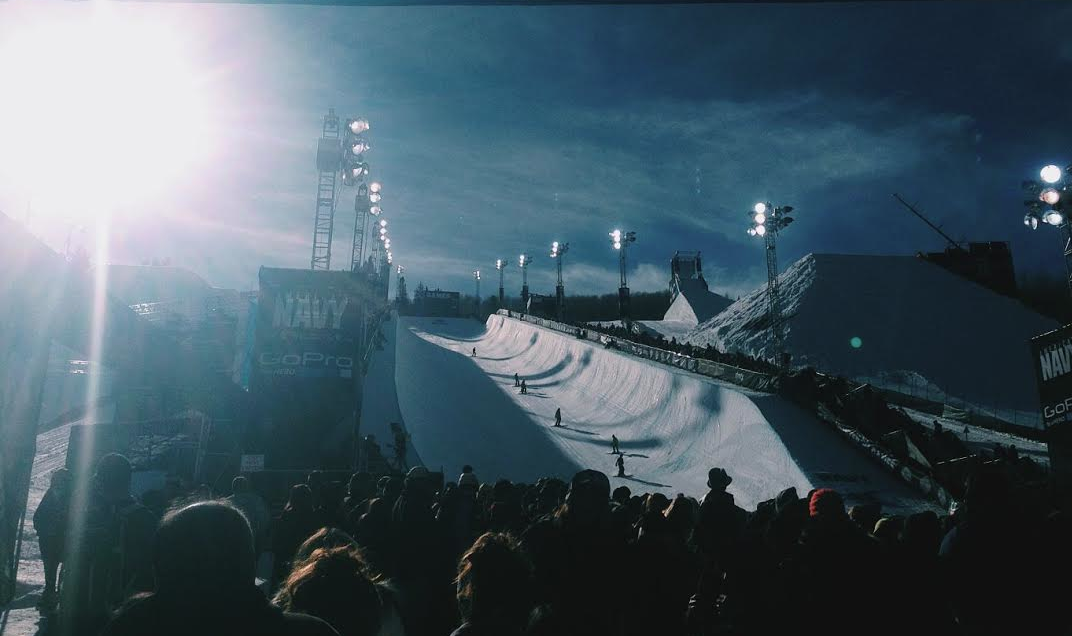 Image courtesy of Breanna Demont | Entrance to the 2015 Winter X Games SuperPipe