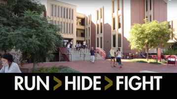 Campus Safety's active shooter video aims to prepare students for a shooting on campus.  Photo courtesy of DU Campus Safety.