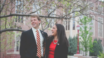 USG President and Vice President emeritus, Cam Hickert and Jess Davidson. Photo courtesy of Jess Davidson
