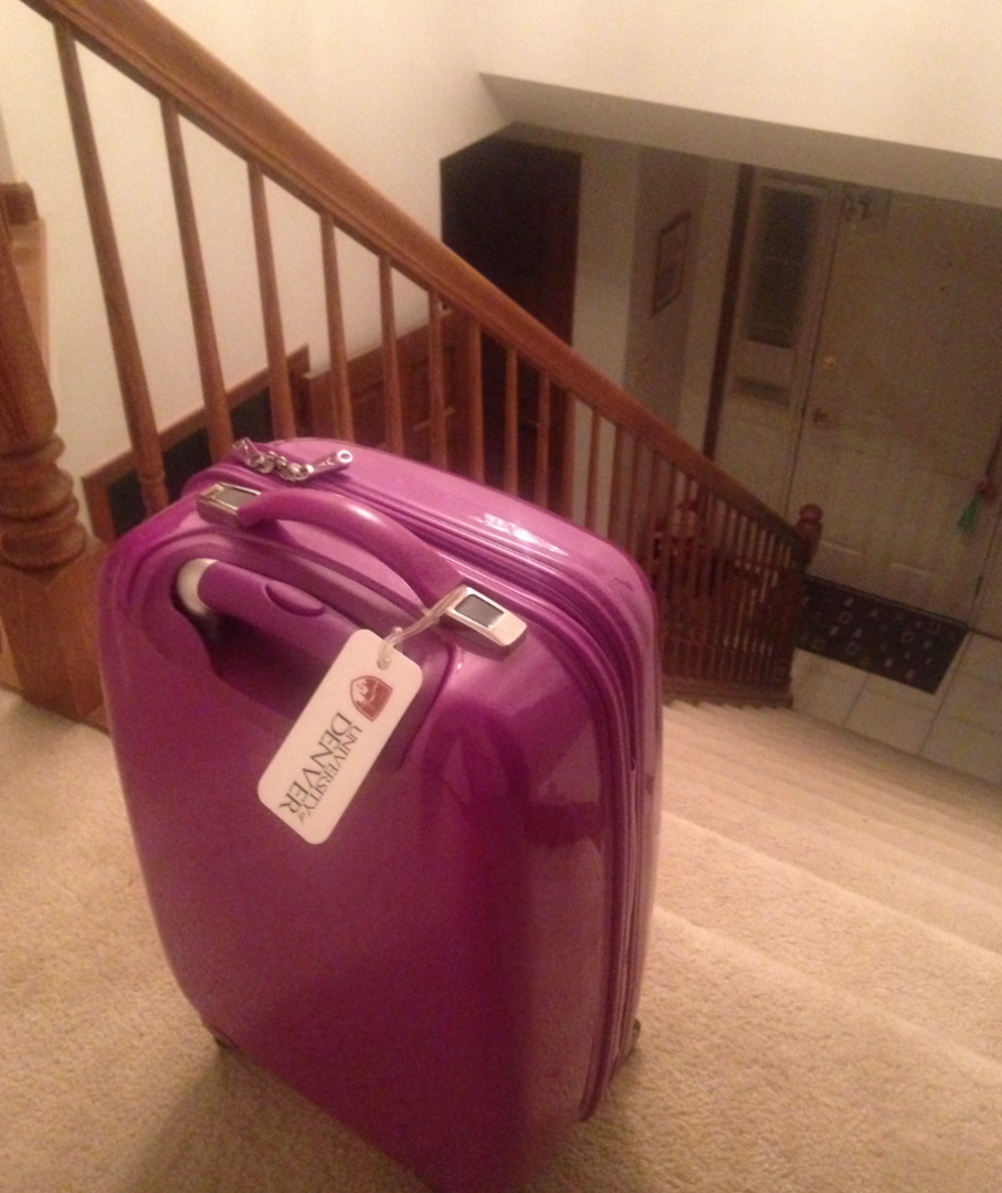 Carolyn's suitcase awaits her adventure. Carolyn Angiollo | Clarion