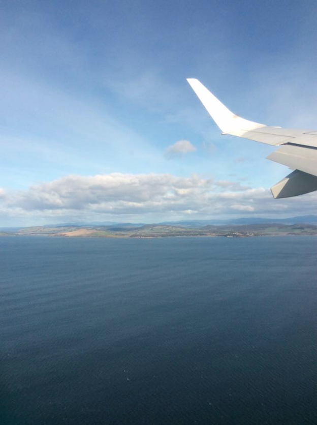 The view from Carolyn's flight into Hobart. Carolyn Angiollo | Clarion