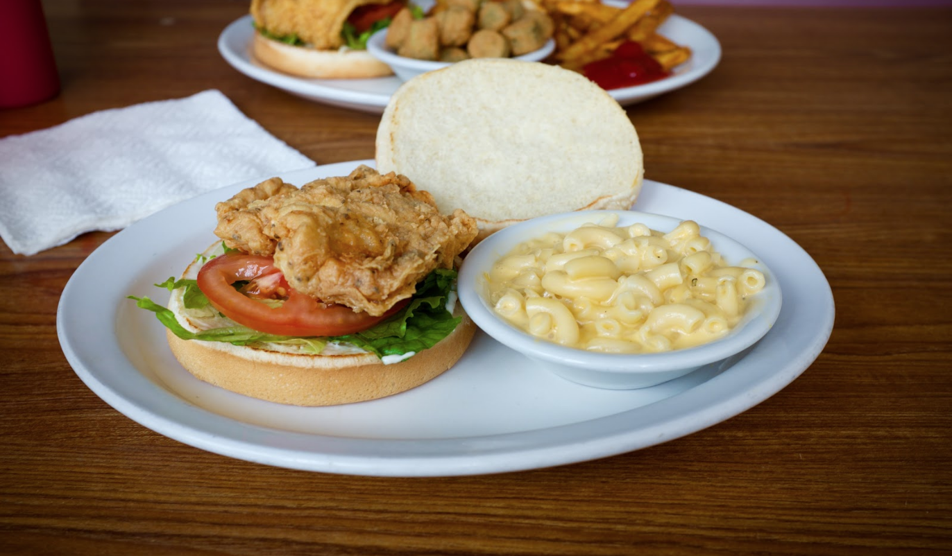 The Fried Chicken Sandwich and Mac & Cheese Side. Justin Cygan | Clarion