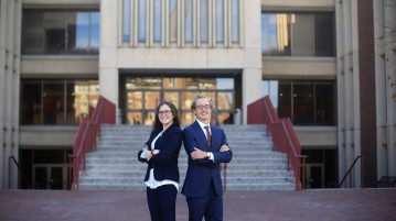 On April 29, Tess Greenwald and Chandler Carlson were elected USG President and Vice President.  Photo Courtesy of Greenwald-Carlson Facebook page