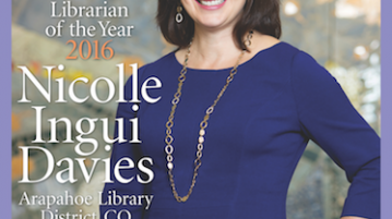 Nicolle Davies is the first Coloradan named Librarian of the Year. Photo Courtesy of Ginger Mattson