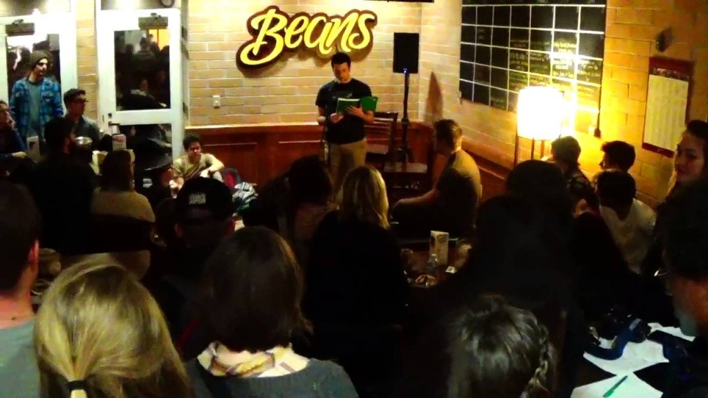 Open Mic Night at Beans Cafe. Photo courtesy of DU Admissions