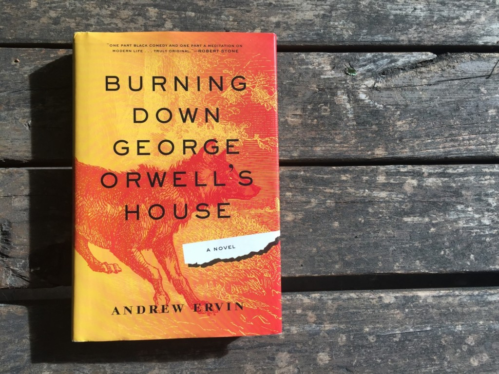 "My copy of ""Burning Down George Orwell's House."" Photo by Meg McIntyre."