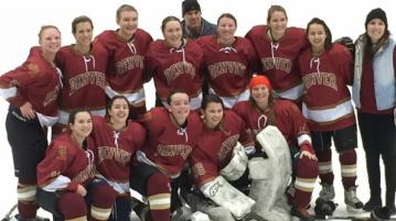 Denver's Women's Club Hockey team. Photo courtesy of DU Women's Club Hockey.